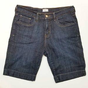 Levi's 515 Dark Wash Bermuda Jean Shorts size 10